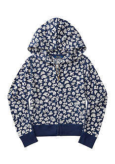 Ralph Lauren Childrenswear Floral Jersey Full-Zip Hoodie Girls 7-16
