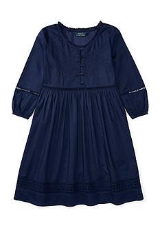 Ralph Lauren Childrenswear Eyelet Cotton Voile Dress Girls 7-16