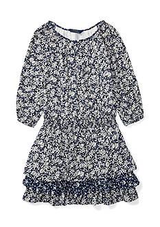 Ralph Lauren Childrenswear Floral Cotton-Blend Dress Girls 7-16