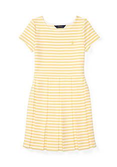 Ralph Lauren Childrenswear Ponte Stripe Dress Girls 7-16