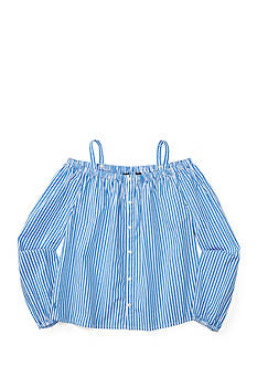 Ralph Lauren Childrenswear Bengal Stripe Top Girls 7-16