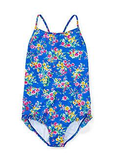 Ralph Lauren Childrenswear Floral One-Piece Swimsuit Girls 7-16