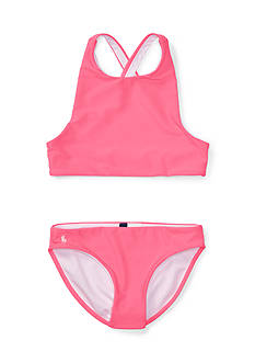Ralph Lauren Childrenswear Solid Two-Piece Swimsuit Girls 7-16