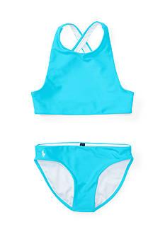 Ralph Lauren Childrenswear Solid Two-Piece Swimsuit Girls 7-16
