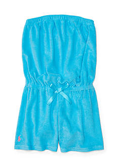 Ralph Lauren Childrenswear Terry Cover-Up Romper Girls 7-16