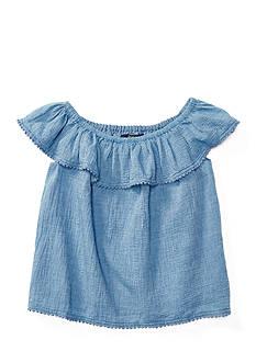 Ralph Lauren Childrenswear Chambray Off-The-Shoulder Top Girls 7-16