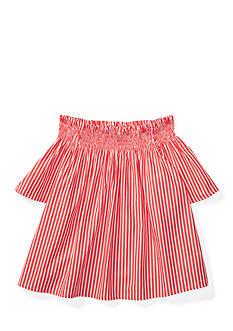 Ralph Lauren Childrenswear Striped Off-the-Shoulder Top Girls 7-16