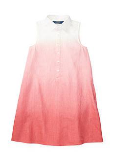 Ralph Lauren Childrenswear Dip-Dyed Shirtdress Girls 7-16