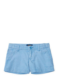 Ralph Lauren Childrenswear Washed Cotton Chino Shorts Girls 7-16
