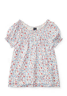 Ralph Lauren Childrenswear Smocked Floral Top Girls 7-16