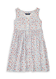 Ralph Lauren Childrenswear Floral Sleeveless Dress Girls 7-16
