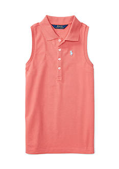 Ralph Lauren Childrenswear Stretch Sleeveless Polo Shirt Girls 7-16
