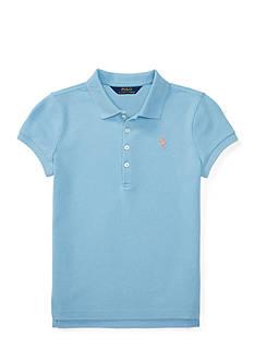 Ralph Lauren Childrenswear Stretch Mesh Short-Sleeve Polo Girls 7-16