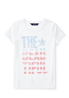 Ralph Lauren Childrenswear Cotton Jersey Graphic Tee Girls 7-16
