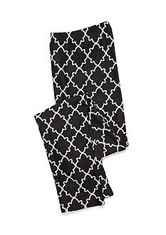 J. Khaki® Black Lattice Print Leggings Girls 7-16