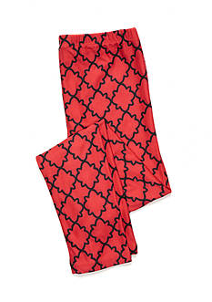 J. Khaki® Red Lattice Print Leggings Girls 7-16