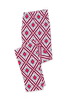 J. Khaki Coral Diamond Print Leggings Girls 7-16