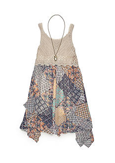 Beautees Crochet to Patchwork Dress Girls 7-16