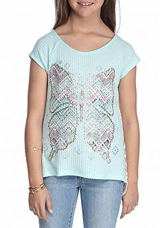 Beautees Butterfly Thermal Top With Headband Girls 7-16