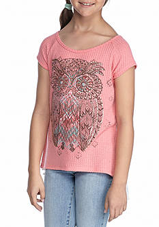 Beautees Owl Thermal Top With Headband Girls 7-16