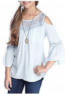 Beautees Cold Shoulder Top Girls 7-16