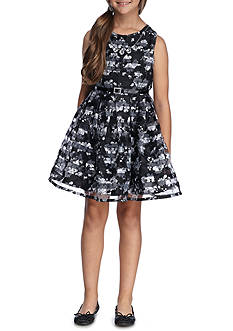 Beautees Floral Belted Dress Girls 7-16