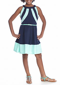 Beautees Belted Halter Dress Girls 7-16