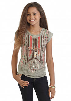 Beautees Tribal Foil Top Girls 7-16