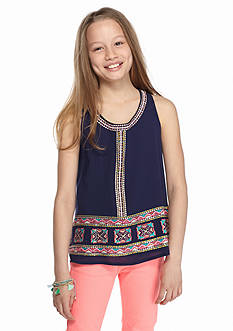 Beautees Printed Tribal Tank Top Girls 7-16