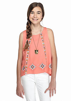 Beautees Tribal Printed Tank Top Girls 7-16