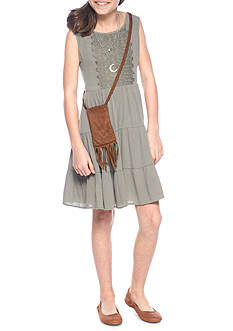 Beautees Babydoll Dress with Purse Girls 7-16