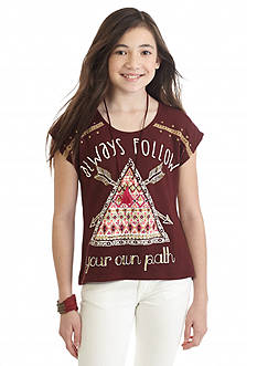 Beautees 'Always Follow Your Own Path' Tribal Top Girls 7-16