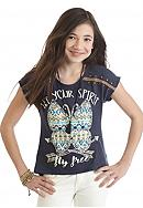Beautees 'Let Your Spirit Fly Free' Butterfly Top