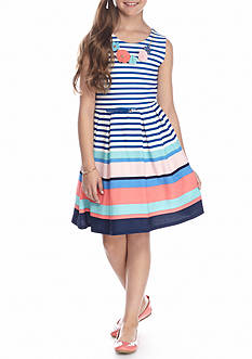 Beautees Striped Popover Dress Girls 7-16