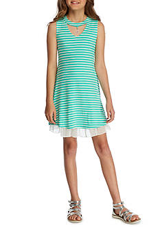 Beautees Knit Choker Swing Dress Girls 7-16