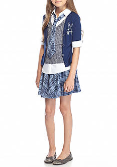Beautees 3-Piece Collar and Cuff Set Girls 7-16