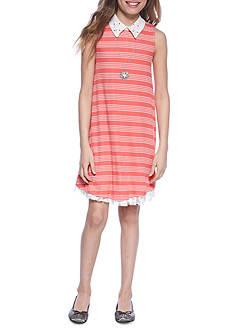 Beautees Stripe Swing Dress Girls 7-16