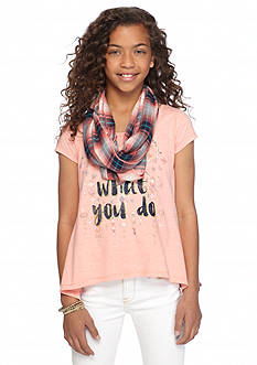 Beautees 2Fer 'Love What You Do' Top and Scarf Girls 7-16