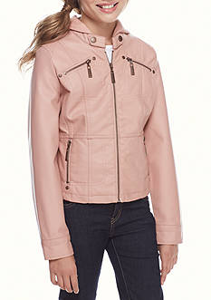 JouJou Faux Leather Coat Girls 7-16