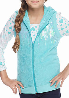 Self Esteem 2-Piece Woobie Vest and Long Sleeve Top Girls 7-16