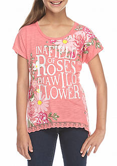 Belle du Jour Pink Roses 'I'm a Wild Flower' Top with Hat