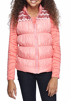 Self Esteem Missoni Yoke Puffer Vest and Shirt Set Girls 7-16