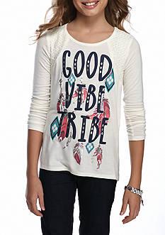 Belle du Jour Good Vibe Chiffon Back Top Girls 7-16