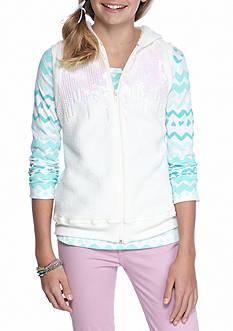 Belle du Jour Woobie Vest and Long Sleeve Top 2-Piece Set Girls 7-16