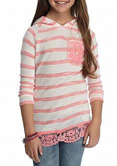 Belle du Jour Stripe Hoodie Girls 7-16