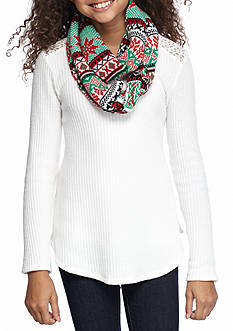 Belle du Jour Thermal Top and Holiday Scarf Girls 7-16