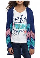 Self Esteem Cardigan and Graphic Tank 2-Piece Set
