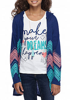 Self Esteem Cardigan and Graphic Tank 2-Piece Set Girls 7-16