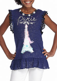 Belle du Jour Ruffle Edge Top Girls 7-16