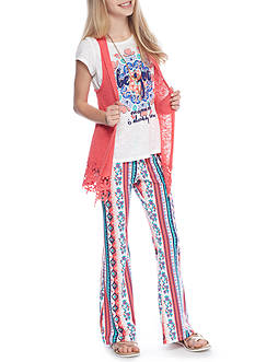 Belle du Jour Vest and Printed Pants 3-Piece Set